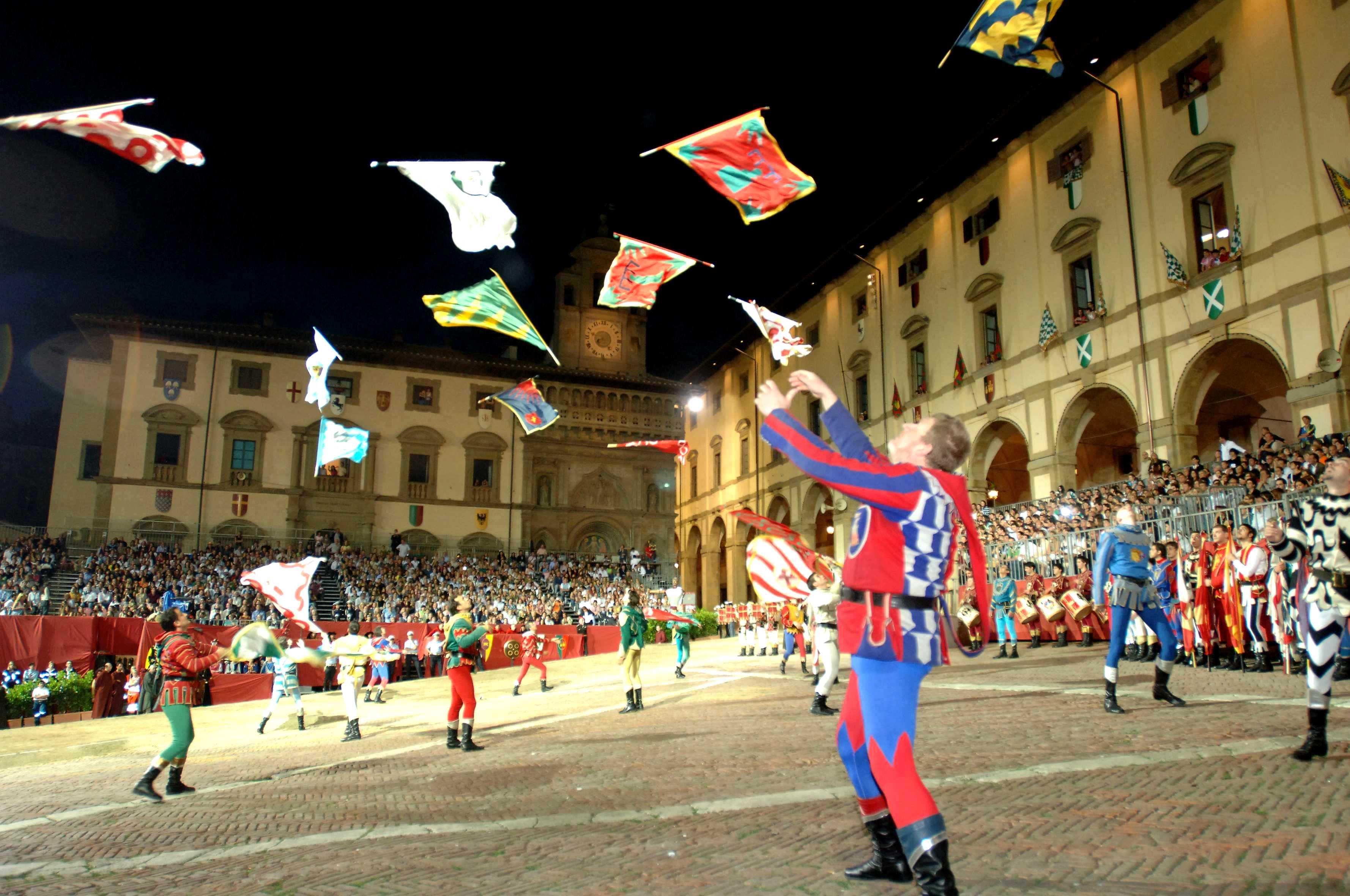 La Joute du Sarrasin 2015 - Arezzo, lanceurs de drapeaux
