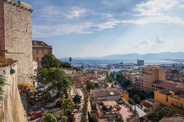 Cagliari - Veduta dal Bastione Santa Croce