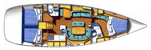 Oceanis Clipper 473 - Lower Deck
